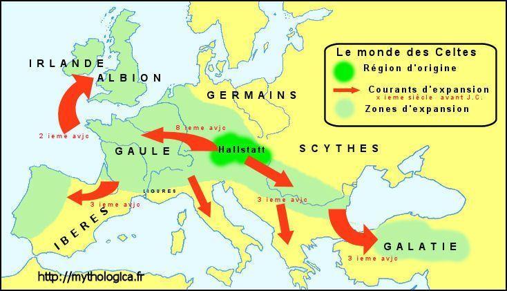 Le monde des Celtes carte
