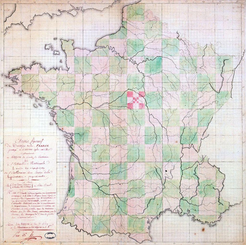 France départements carrés