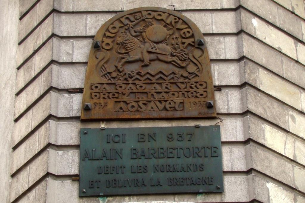 Plaque Alain Barbetorte Nantes