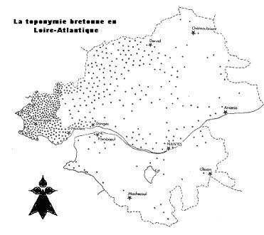 Carte noms bretons Loire Atlantique